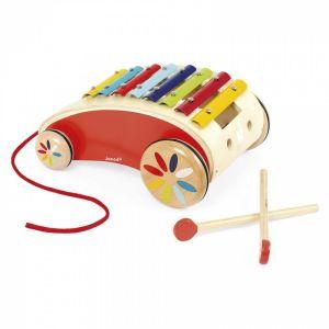 Игрушка каталка Janod Ксилофон J05380