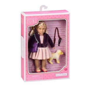 Кукла LORI Хазел и золотистый ретривер 15 см