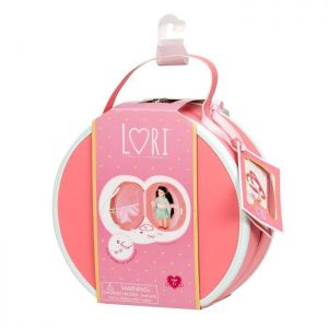 Кейс для кукол LORI DELUXE коралловый с аксессуарами LO37008
