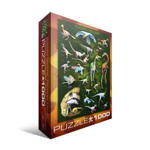 Пазл Eurographics Пернатые динозавры, 1000 элементов