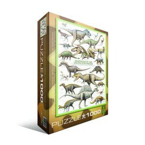 Пазл Eurographics Динозавры Мелового пероида,1000 элементов