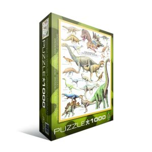 Пазл Динозавры Юрского периода, Eurographics 1000 элементов