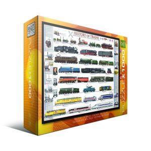 Пазл История поездов Eurographics, 1000 элементов