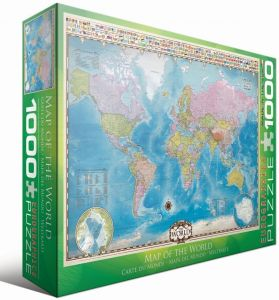 Пазл Карта Мира Eurographics, 1000 элементов