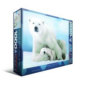 Пазл Eurographics Белая медведица с медвежонком, 1000 элементов