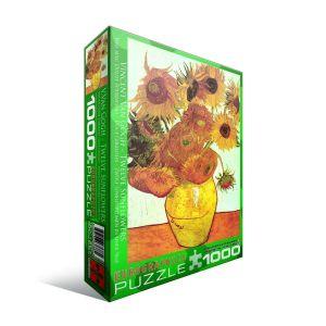 Пазл Eurographics Двенадцать подсолнухов - Винсент ван Гог, 1000 элементов