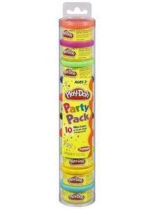 Play-Doh Набор пластилина для праздника из 10 мини-баночек в тубусе