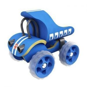 Деревянная игрушка машинка из бамбука E-Truck синий