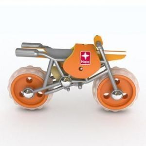 Деревянная игрушка мотоцикл из бамбука E-Moto