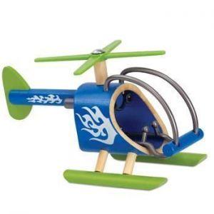 Деревянная игрушка вертолет из бамбука E-Helicopter