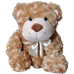 Мягкая игрушка МЕДВЕДЬ (коричневый, с бантом) 33 см