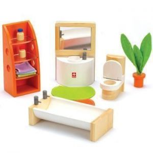 Деревянная игрушка Hape набор мебели Trendy Bathroom