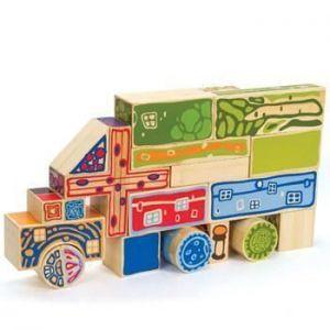 """Деревянная игрушка набор для конструирования фигур """"Bamboo Blocks"""""""