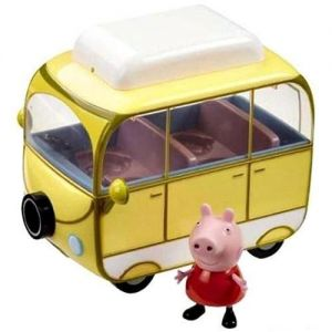 Игровой набор Свинка Пеппа - ВЕСЕЛЫЙ КЕМПИНГ (автобус, фигурка Пеппы)