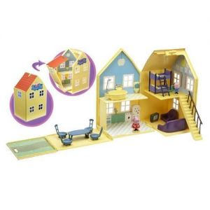Игровой набор Свинка Пеппа - ЗАГОРОДНЫЙ ДОМ ПЕППЫ (домик с мебелью, 2 фигурки)