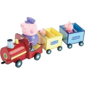 Игровой набор Свинка Пеппа - ПАРОВОЗИК ДЕДУШКИ ПЕППЫ (паровозик, 3 фигурки)