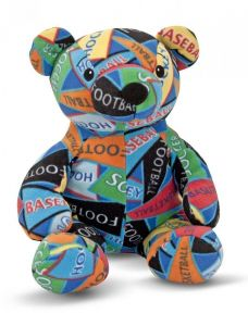Мягкая игрушка Медведь-спортсмен Zach, Beeposh Melissa & Doug 36х30х28 см