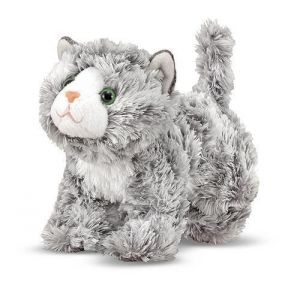 Мягкая игрушка Мраморный котенок Рокси 18 см Melissa & Doug