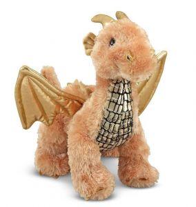 Мягкая игрушка Блестящий Дракоша 24 см Melissa & Doug