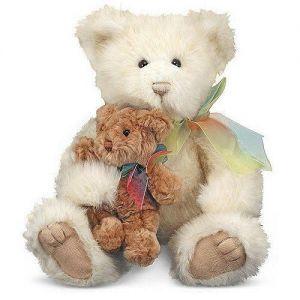Мягкая игрушка Семейство мишек, мама с медвежонком Пуфом Melissa & Doug
