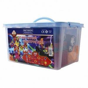 Магнитный конструктор 3-D МАГНИКОН 268 деталей Plastic box
