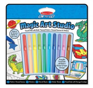 """Волшебный набор для мальчиков """"Раскраска, наклейка, трафарет"""" Melissa & Doug"""