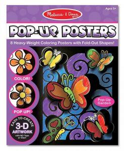 Раскраска 3D Цветы и бабочки Melissa & Doug MD5282