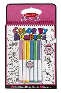 Цветная раскраска по номерам - розовая Melissa & Doug