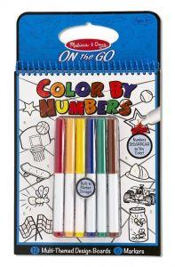 Цветная раскраска по номерам - голубая Melissa & Doug