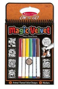 Магическая бархатная раскраска Животные Melissa & Doug