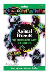 """Наклейки-царапки """"Животные"""" Melissa & Doug"""