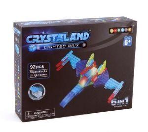 Светящийся конструктор CRYSTALAND Воздушное судно и робот 6 в 1