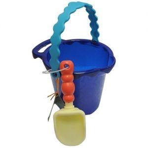 Набор для игры с песком и водой - ВЕДЕРЦЕ С ЛОПАТКОЙ (цвет океан)