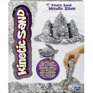 Песок для детского творчества - KINETIC SAND METALLIC (серебряный, 454 г)