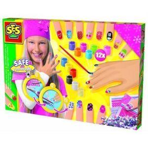 Набор для творчества Ses - МОДНЫЙ МАНИКЮР (краски, кисточка, стикеры, украшения)