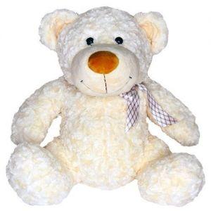 Мягкая игрушка - МЕДВЕДЬ (белый, с бантом, 25 см)