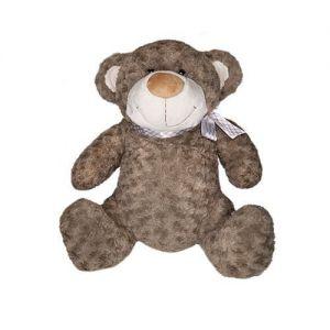 Мягкая игрушка МЕДВЕДЬ (коричневый, с бантом, 25 см)