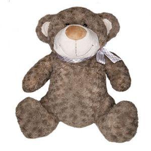 Мягкая игрушка - МЕДВЕДЬ (коричневый, с бантом, 40 см)