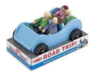 Игровой набор Melissa & Doug - Дорожная машинка с куклами, MD2463
