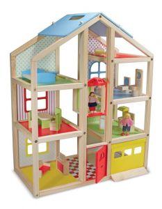Кукольный домик с подъемником и мебелью Melissa & Doug MD2462