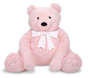 Большой плюшевый мишка, розовый, Melissa & Doug  76см х 69см