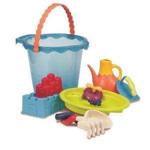 Набор для игры с песком и водой МЕГА-ВЕДЕРЦЕ МОРЕ (9 предметов)