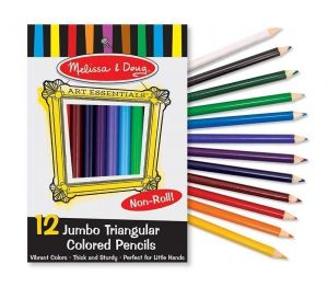 Цветные карандаши (12 цветов) Melissa & Doug