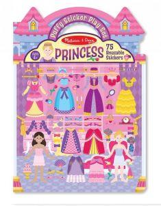 Объемные многоразовые наклейки Принцессы Melissa & Doug