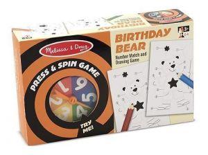 """Настольная игра крутилка-давилка """"День рождения медведя"""" Melissa & Doug"""