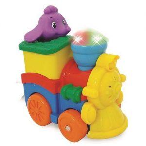 Развивающая игрушка ПАРОВОЗИК СЛОНИКА фигурка слоника, свет, звук