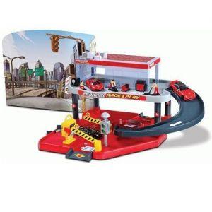 Игровой набор ГАРАЖ FERRARI Bburago (2 уровня, 1 машинка 1:43)
