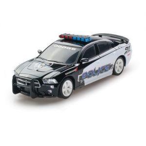 Автомодель DODGE CHARGER POLICE 2014 черный 1:26 (свет, звук, инерц.)