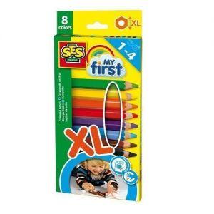 Набор восковых цветных карандашей серии My first РАДУГА Ses (8 цветов)