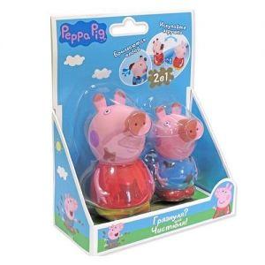 Набор игрушек-брызгунчиков PEPPA ЧИСТЮЛЯ ИЛИ ГРЯЗНУЛЯ, Пеппа и Джордж